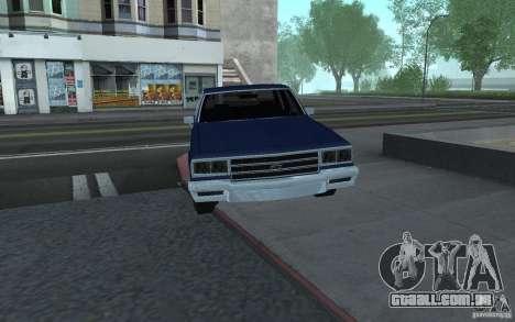 1983 Chevrolet Impala para GTA San Andreas traseira esquerda vista