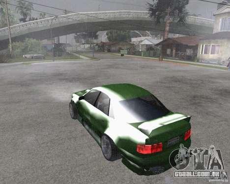 Audi S8 RS Look para GTA San Andreas esquerda vista