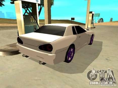 New Elegy v.1 para GTA San Andreas traseira esquerda vista
