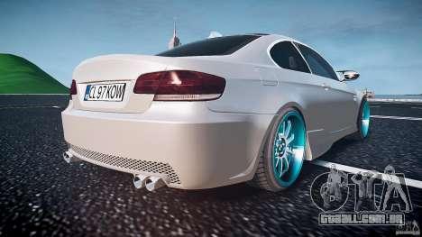 BMW E92 para GTA 4 vista inferior