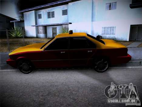 Sentinel Taxi para GTA San Andreas vista traseira