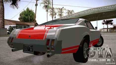 Sabre GT From GTA IV para GTA San Andreas traseira esquerda vista