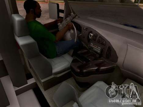Ford E-350 Ambulance v2.0 para GTA San Andreas vista interior