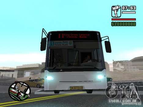 CityLAZ 12 LF para GTA San Andreas vista interior