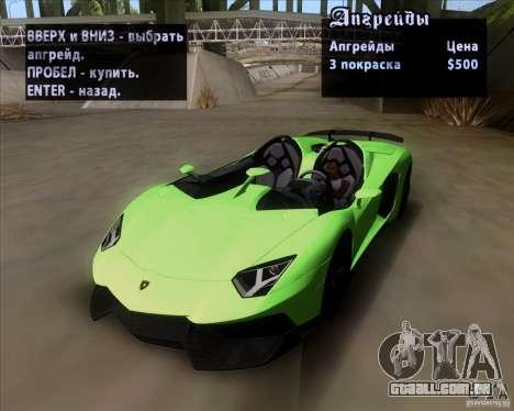 Lamborghini Aventador J TT Black Revel para GTA San Andreas vista superior