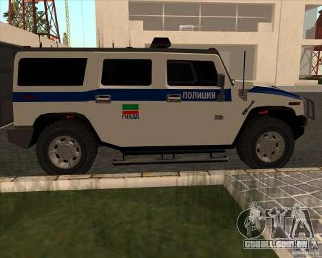 Hummer H2 DPS para GTA San Andreas esquerda vista