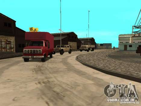 Renovação da base militar nas docas para GTA San Andreas segunda tela