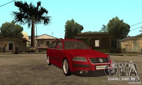 VW Passat B5 Variant para GTA San Andreas vista traseira