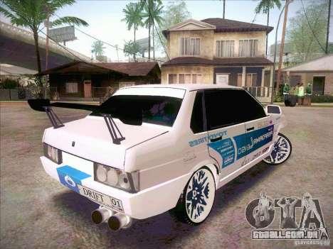 VAZ 21099 Drift Style para GTA San Andreas esquerda vista