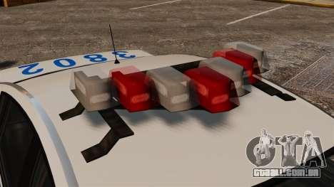 Polícia Pinnacle ESPA para GTA 4 vista de volta