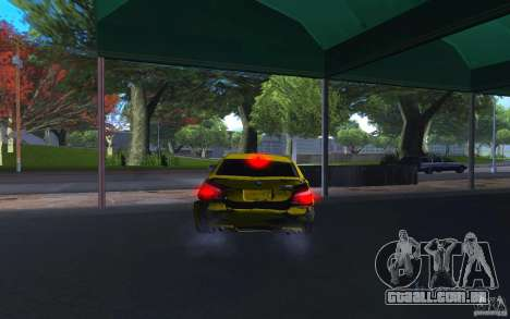 BMW M5 Gold Edition para vista lateral GTA San Andreas
