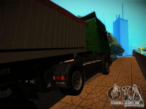 Scania R580 para GTA San Andreas esquerda vista