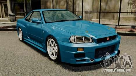 Nissan Skyline R34 2002 v1.1 para GTA 4