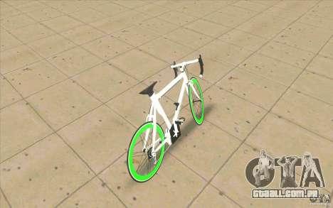 Fixie Bike para GTA San Andreas traseira esquerda vista