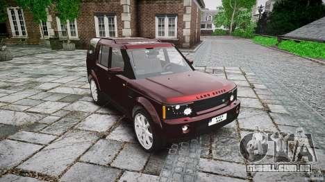 Land Rover Discovery 4 2011 para GTA 4 vista de volta