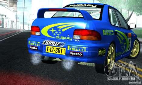 Subaru Impreza 1995 World Rally ChampionShip para GTA San Andreas vista direita
