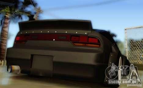 Nissan 240SX Rocket Bunny para GTA San Andreas traseira esquerda vista