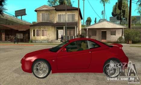 Alfa Romeo GTV para GTA San Andreas esquerda vista