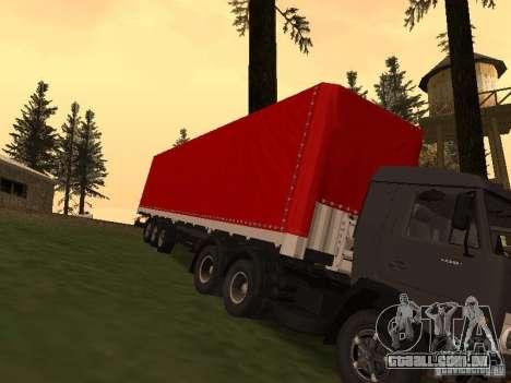 Nefaz 93344 vermelho para GTA San Andreas vista traseira