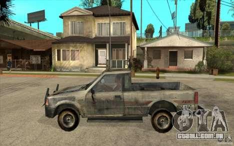 Rusty Mazda Pickup para GTA San Andreas esquerda vista