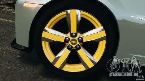 Chevrolet Camaro ZL1 2012 v1.2 para GTA 4 vista inferior