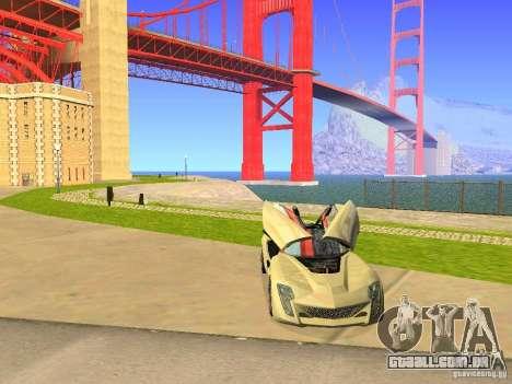 Bertone Mantide para GTA San Andreas vista inferior
