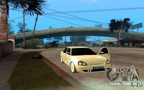 Lada Priora Light Tuning para GTA San Andreas traseira esquerda vista