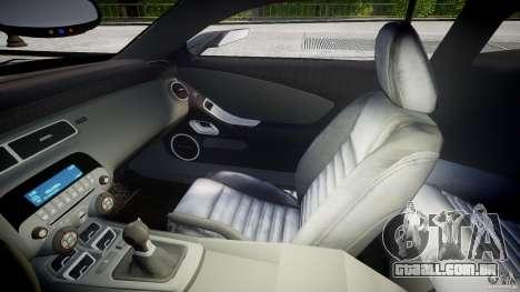 Chevrolet Camaro SS 2009 v2.0 para GTA 4 vista interior