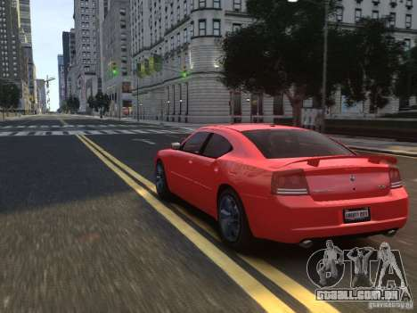 Dodge Charger SRT8 2006 para GTA 4 vista inferior
