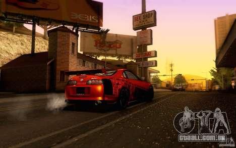 Toyota Supra para vista lateral GTA San Andreas