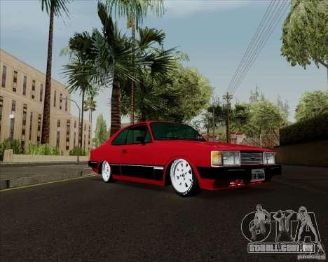 Chevrolet Opala Diplomata 1986 para GTA San Andreas traseira esquerda vista
