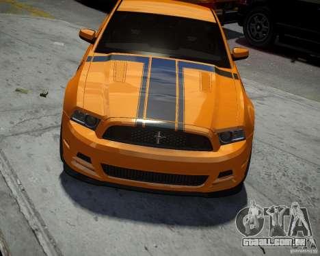 Ford Mustang Boss para GTA 4 vista interior