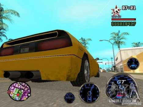 Speedometer GT para GTA San Andreas por diante tela