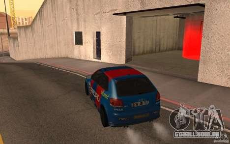 Audi S3 Tunable para GTA San Andreas traseira esquerda vista
