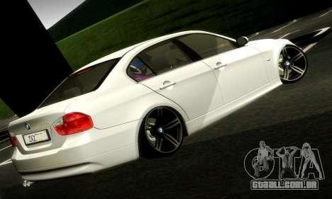 BMW 330 E90 para GTA San Andreas esquerda vista