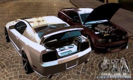 Ford Mustang GTS para GTA San Andreas vista interior