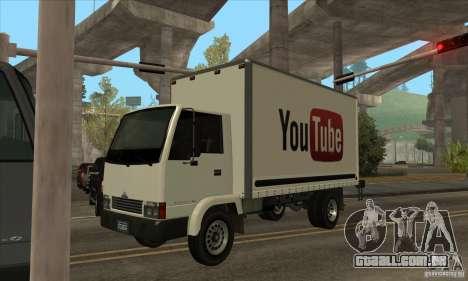 Caminhão com logotipo do YouTube para GTA San Andreas