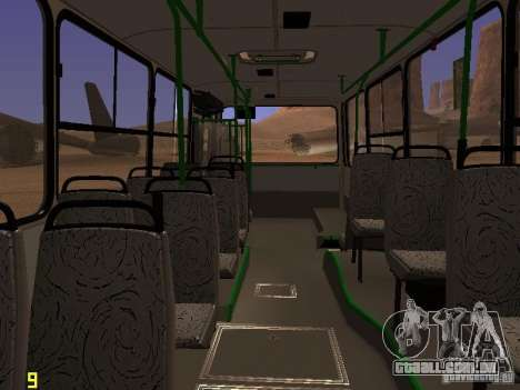 Ikarus C63 para GTA San Andreas vista interior