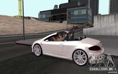 Peugeot 307CC BMS para GTA San Andreas vista inferior
