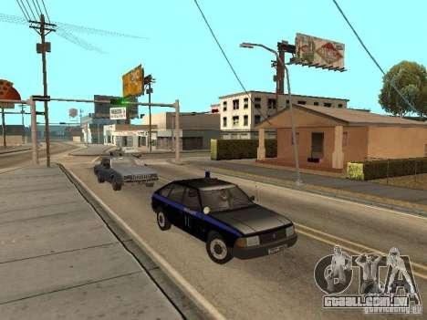 Patrulha AZLK 21418 para GTA San Andreas vista traseira