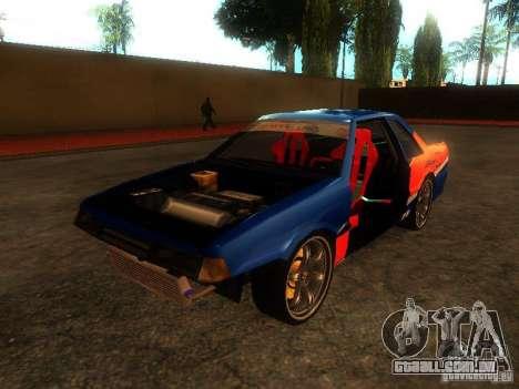 Previon FNF3 para GTA San Andreas vista traseira