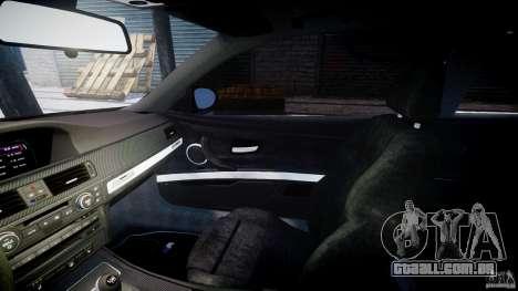 BMW M3 E92 stock para GTA 4 vista interior