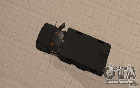 ZIL 130 rádio Butka para GTA San Andreas vista traseira