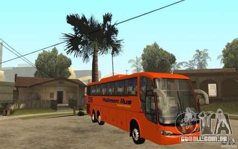 Marcopolo Paradiso 1200 Pullman Bus para GTA San Andreas vista traseira