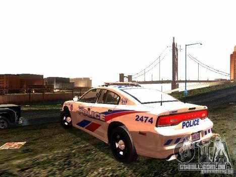 Dodge Charger 2011 Toronto Police para GTA San Andreas traseira esquerda vista