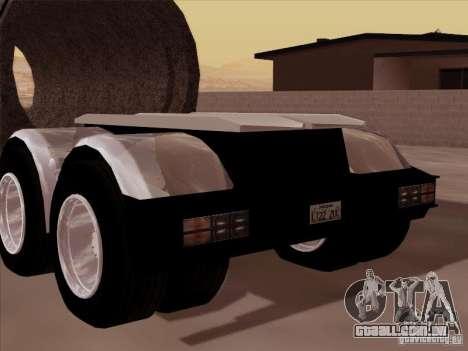 Reboque, Custom Peterbilt 378 para GTA San Andreas traseira esquerda vista