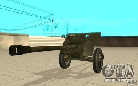 A arma do ZiS-3 para GTA San Andreas