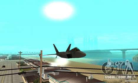 F-22 Grey para vista lateral GTA San Andreas