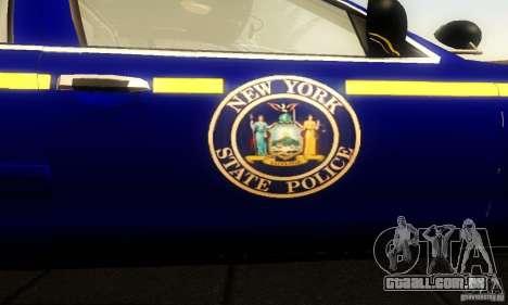 Ford Crown Victoria New York Police para GTA San Andreas vista traseira