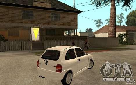 Opel Corsa GSI 16V para GTA San Andreas vista direita